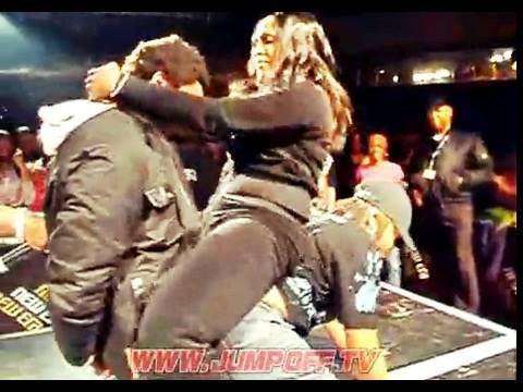 Girls Fight Over Guy in Jump Off Booty Shake Dance Contest
