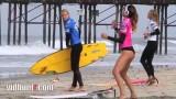 Surfing Videos and Beach Videos   Surfer Anastasia Ashley Twerking Warm Up Dance   Surfers View