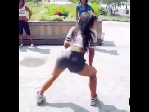 Girl Twerking In Black Booty Shorts